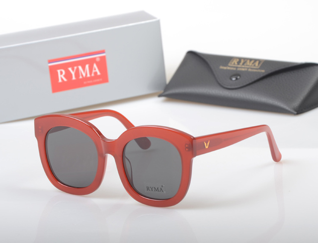 3132540df1de Hot sale Fashion Female Big Frame Style Red Sunglasses Women Luxury Brand  Designer polaroid driving Vintage Sun glasses with box