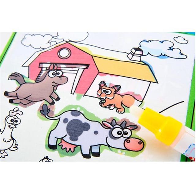 Libro para colorear niño niños animales pintura Magic Water dibujo ...
