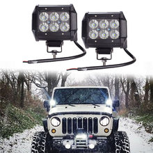 "2Pcs 18W Car Led Light Bar Work Light Lamp Chip LED 4"" FOR Motorcycle Tractor Boat Off Road Truck(China)"