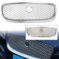 For Jaguar XE 2015 2016 2017 2018 Car Front Bumper Upper Mesh Grille Radiator Grill Chrome ABS Plastic