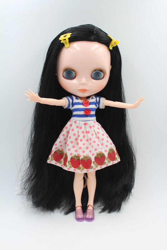 Free Shipping BJD joint RBL-203J DIY Nude Blyth doll birthday gift for girl 4 colour big eyes dolls with beautiful Hair cute toy free shipping transparent rbl 197t diy nude blyth doll birthday gift for girl 4 colour big eyes with beautiful hair cute toy