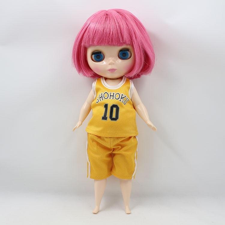 Neo Blythe Doll Plump Doll Basketball Uniform 4