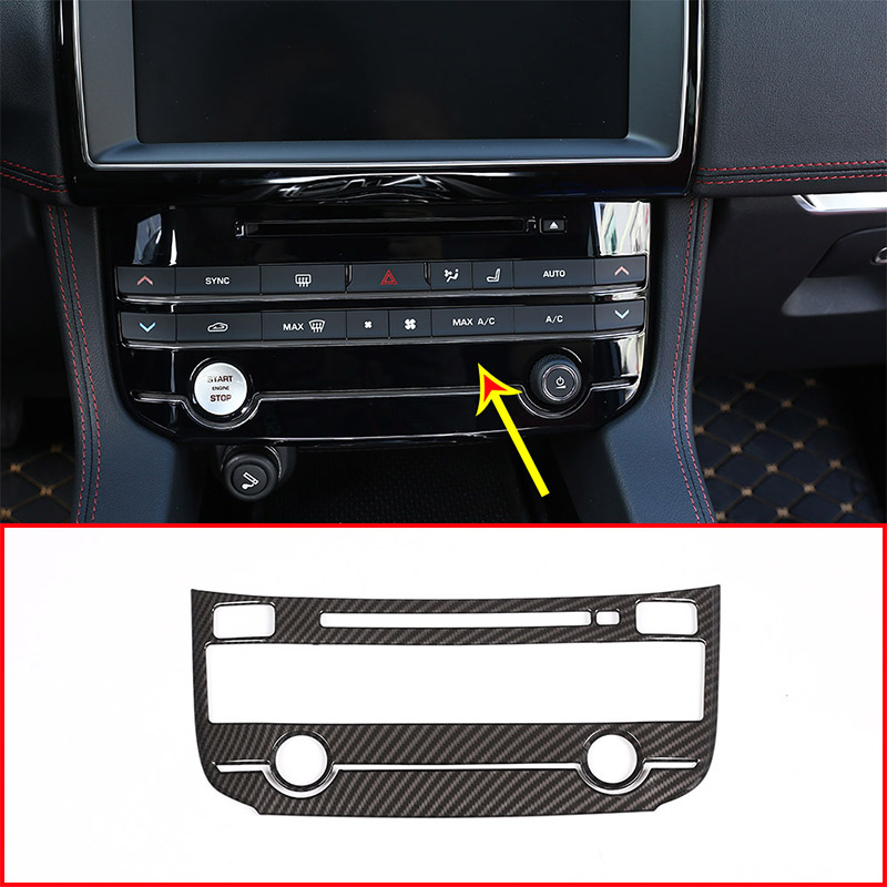 Carbon Fiber For Jaguar XE XEL XF XFL F-PACE F pace 2016-2018 ABS Center Air conditioning Mode Button Frame Trim Car Accessories покрышка maxxis pace 29x2 1 60 tpi мтб tb96667000