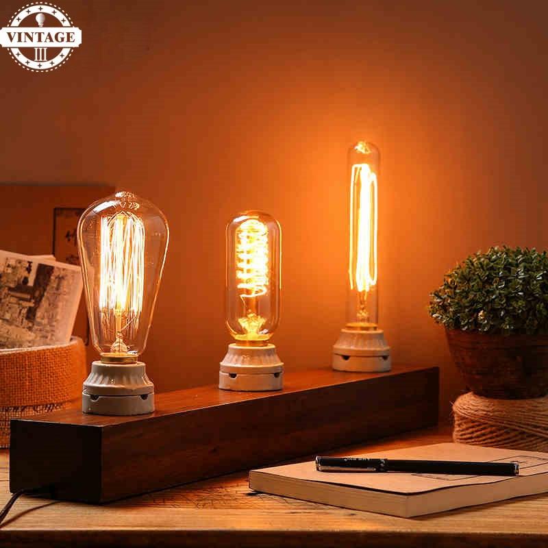 LightInBox Novelty Lighting Retro Vintage Incandescent Bulbs 40W/60W 220V Carbon Filament Edison lights Handmade Edison Lamps