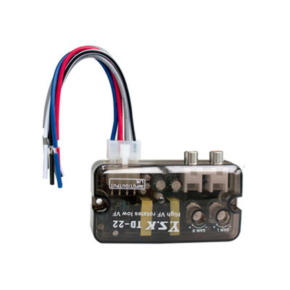 цена на 12V TD-22 Auto Car Audio Converter RCA Stereo High to Low Frequency Line Speaker Level Converter Adapter