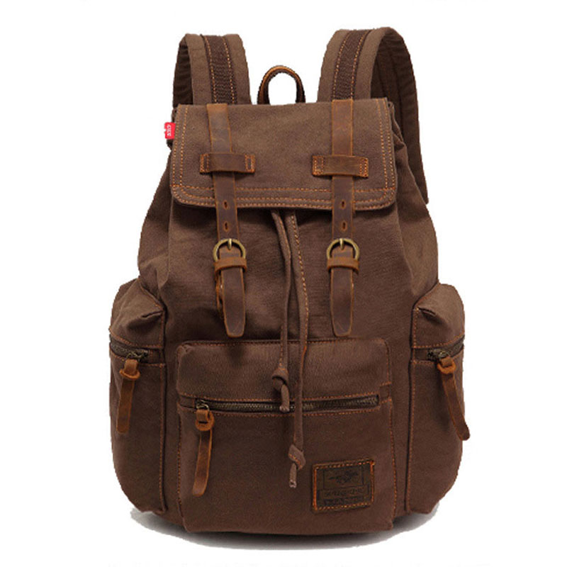 2017 men's backpack vintage canvas backpack school bag men's travel bags large capacity travel bag Women Rucksack School Satchel