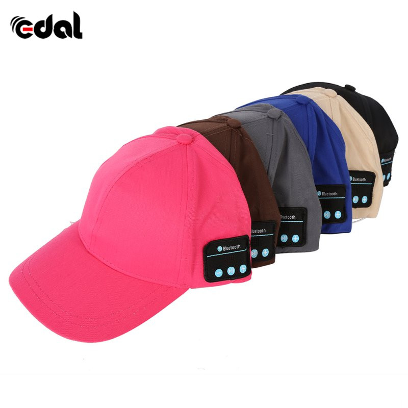 Baseball cap hat Wireless Bluetooth Smart Cap Headset Headphone Speaker Mic Cap wireless bluetooth music beanie cap stereo headset to answer the call of hat speaker mic knitted cap