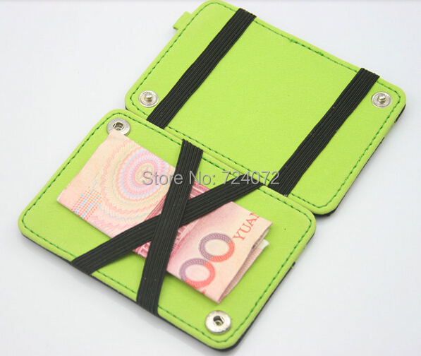 d73a04d3b7f2 ID card holder bus card change wallet credit card slot fashion simple  design small wallet for male female
