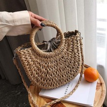 Women Handbag Straw Bolsa Feminina Shoulder Bag Beach Messenger Crossbody Bags for 2019