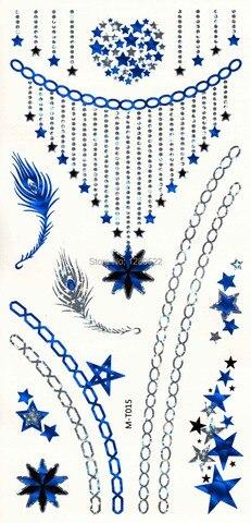 100 pcs lote tira azul metalico adesivo