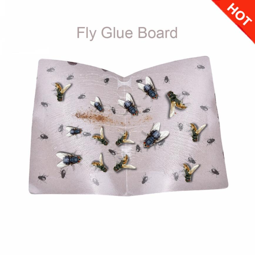 1PC  Sticky Fly Board Summer Sticky Glue Paper Fly Flies Trap Catcher Bugs Insects Catcher Board 2O0712