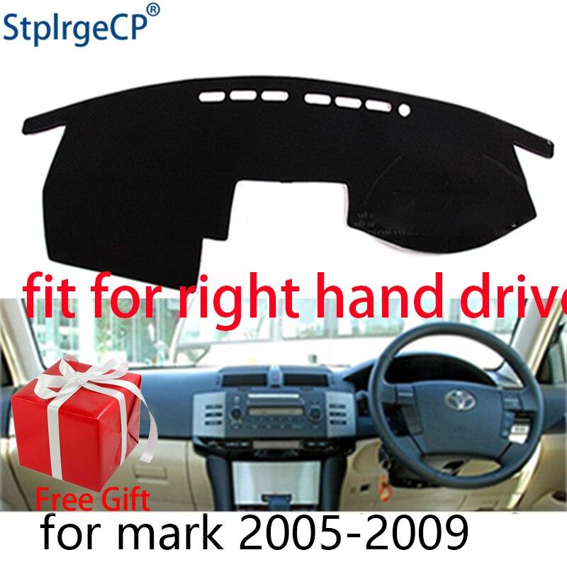 Car Dashboard Cover Mat For Toyota Mark X 2004 2005-2009 Right Hand Drive Dashmat Pad Dash Mat Covers Dashboard Accessories