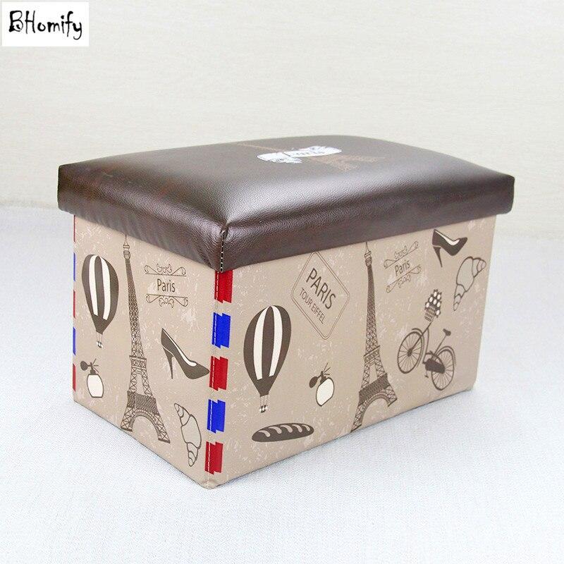 Storage Folding Organizer Storage Ottoman Bench Footrest