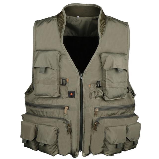 Goture Новый Рыбалка жилет открытый пеший Туризм Охота мульти карман для мужчин куртки для рыбалки Армейский Зеленый L, XL, XXL