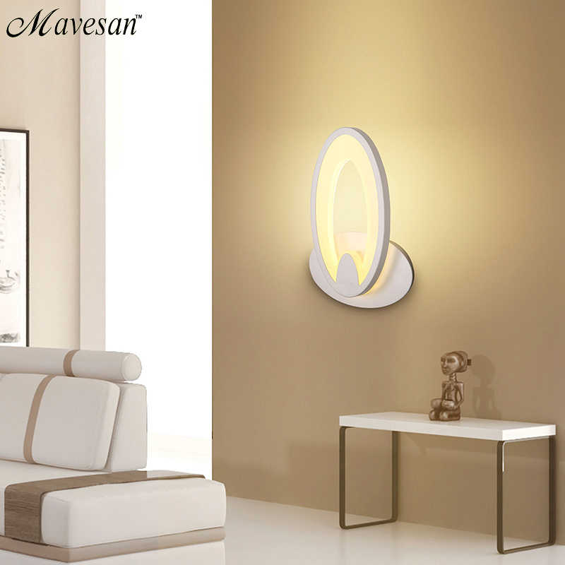 Современный светодиодный настенный светильник для ванной спальни 11 Вт Настенный светильник белый комнатный светильник AC100-265V светодиодный настенный светильник для помещений освещение