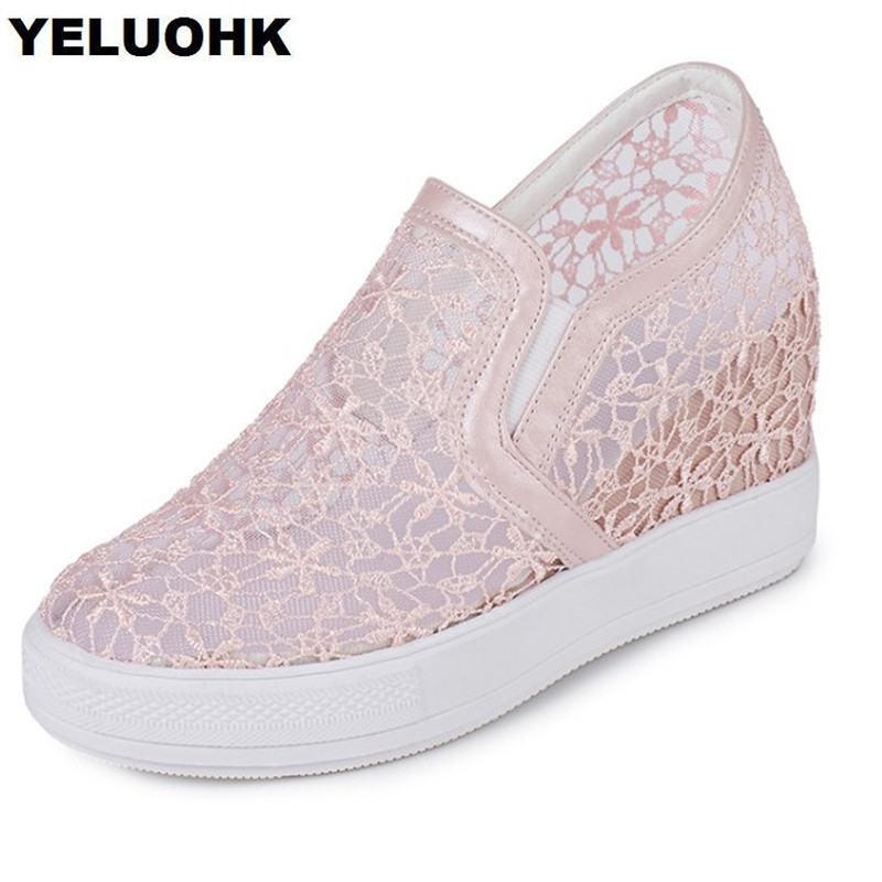 Large Size 43 Tenis Feminino Casual Shoes Women Breathable Summer Female Shoes Flats Platform Shoes Woman Air Mesh ceyue fashion brand women shoes breathable air mesh trainers 2017 spring autumn casual shoes woman walking flats tenis feminino