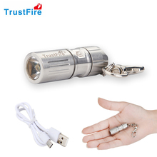 TrustFire USB Rechargeable portable waterproof Light Alloy super Mini Led Flashlight Torch Led keychain