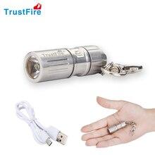 TrustFire USB Перезаряжаемые портативный водонепроницаемый свет сплава супер мини светодио дный фонарик светодио дный брелок