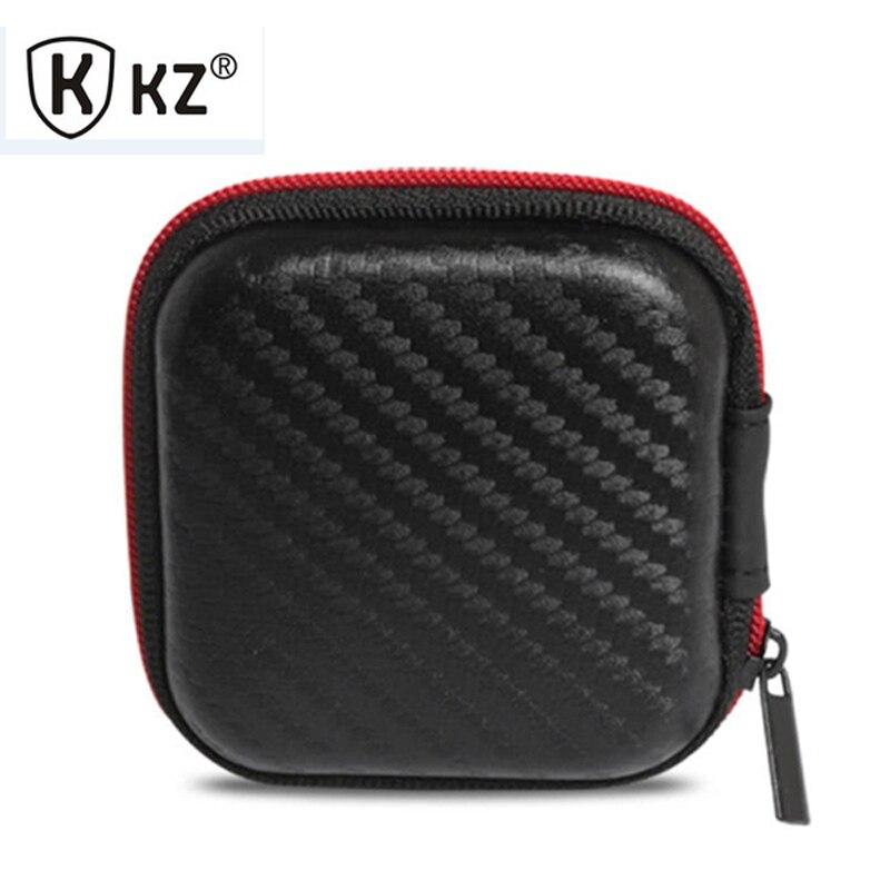 KZ Earphone Case Fiber Zipper Headphone Earphone Earbuds Hard case Storage Carrying Pouch bag SD Card box portable Earphone Bag