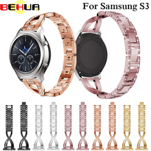 22mm Watch Band for Samsung Gear S3 Frontier Smart watch Strap for Samsung Gear S3 Classic Bracelet With Rhinestone Band Straps все цены