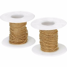 LOULEUR 10yard/lot 1.5 2 2.4 3mm Yards Bead Chains Bulk Real Gold Color Link for Diy Necklaces Bracelets Jewelry Makings