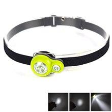 300Lumen LED Light Headlamp Headlight Linternas Frontales Cabeza Head Lamp 4-Mode 3LED Hiking Lantern+2x CR2032 Battery