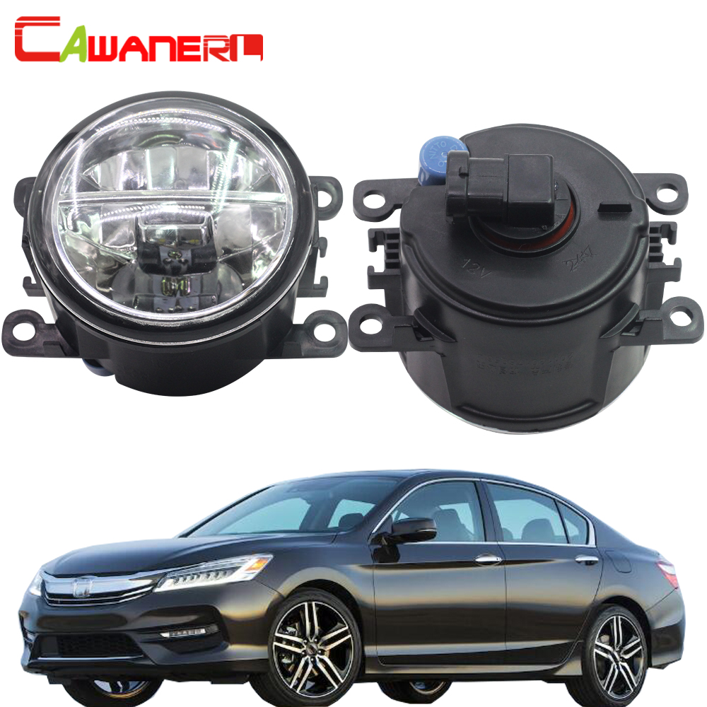 Cawanerl For Honda Accord VIII (CU) 2008 Car LED Fog Light 4000LM/Set White 6000K Daytime Running Lamp DRL Styling 12V 2 Pieces cawanerl for toyota highlander 2008 2012 car styling left right fog light led drl daytime running lamp white 12v 2 pieces
