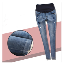 Pregnancy Clothes Special Offer Summer Elastic Waist Denim Pants for Pregnant Women Skinny Fit Maternity Jeans Plus Size B97