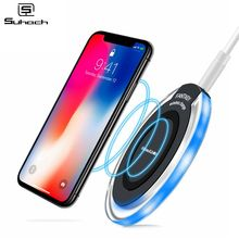 Suhach 5W Qi Wireless Charger for iPhone X Xs MAX XR 8 plus Fast Charging for Samsung S8 S9 Plus Note 9 8 USB Phone Charger Pad phone camera lens 9 in 1 phone lens kit for iphone x xs max 8 7 plus samsung s10 s10e s9 s8