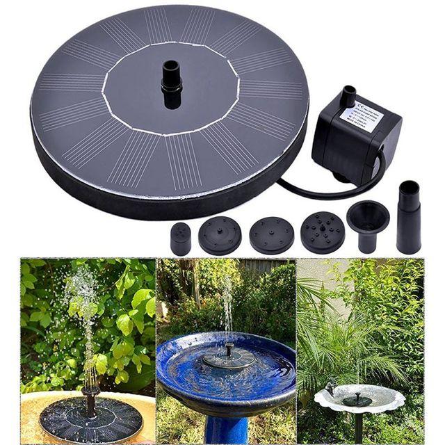 Solar Powered Fountain Garden Backyard Water Fountains Pump Outdoor Features