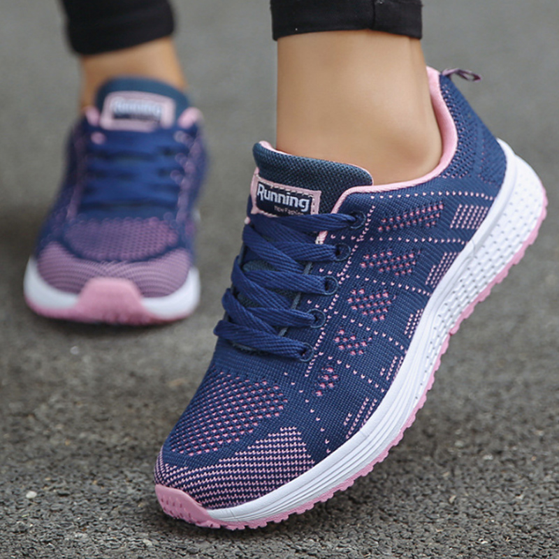 Black Sneakers Women Summer Shoes 2019 Fashion Wedges Sneakers For Woman Sewing Plus Size 4.5-12 Scarpe Donna
