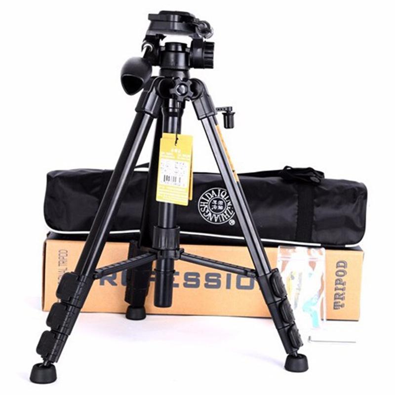 Prix pour QZSD trépieds Q111 q-111 professionnel caméra trépied Portable voyage 3 KG ours trépied léger pour appareil photo REFLEX NUMÉRIQUE pro vidéo