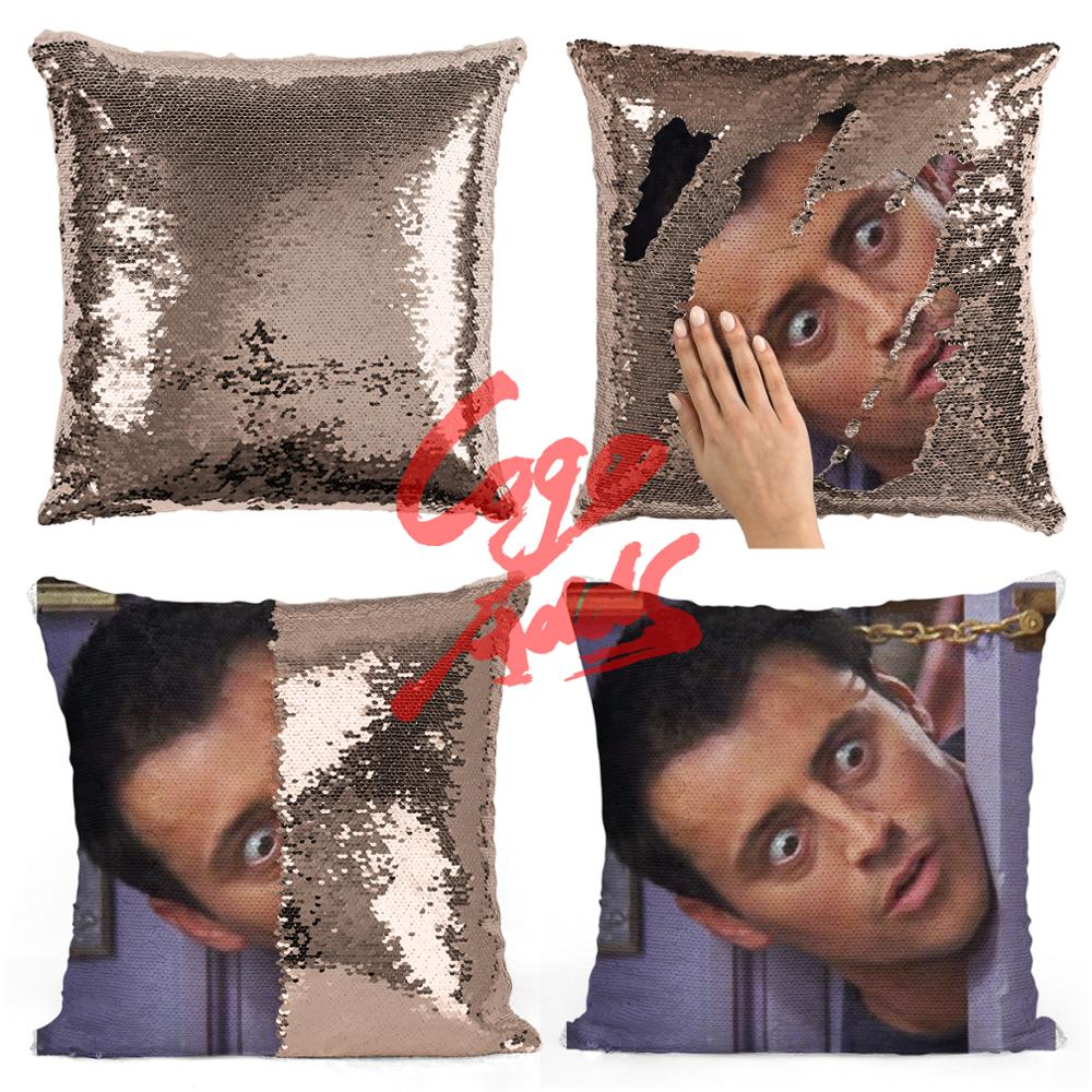 Image 4 - Friends TV SHOW sequin pillows Joey Tribbiani Quote Home Decor, Pillow Cover, Gift for Her, Gift for Him, Housewarming Gift, Gra-in Cushion Cover from Home & Garden