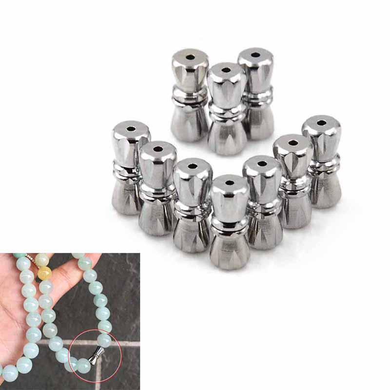 10pcs/lot Strong Round Clasps Fit 10mm Leather Cord Bracelets DIY Jewelry Connectors Accessories Making Fittings