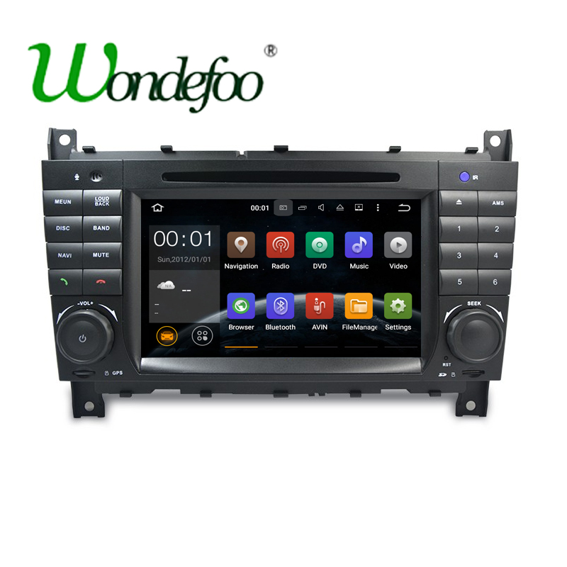 imágenes para Android 7.1 RAM 2G/1G 1024*600 2 DIN Coche DVD GPS ESTÉREO Para Mercedes/Benz W203 W209 W219 Clase A160 C-class C180 C200 CLK200