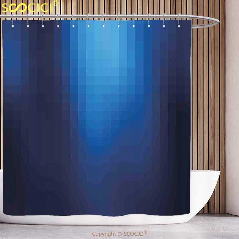 Kotak Unik Shower Curtain Navy Mosaik Kabur Seperti Pixel Dalam Ombre Warna Gambar Biru Navy Biru Biru Dan Pirus Shower Curtain Unique Shower Curtainscurtains Shower Curtains Aliexpress