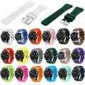 RS 18 Farben Gummi Armband für Samsung Getriebe S3 Frontier Silikon Uhrenarmband für Getriebe S3 Klassische Sport Band 22mm Gürtel w Pins-in Uhrenbänder aus Uhren bei