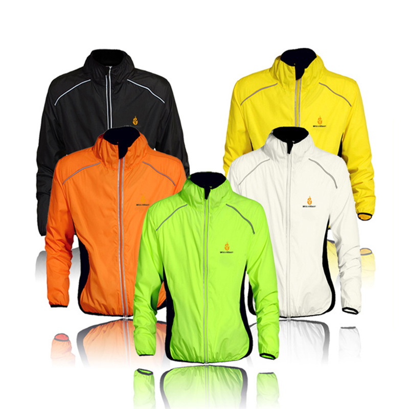 WOLFBIKE Brand Cycling Jersey Men Riding Breathable Quick-dry Jacket Cycle Clothing Bike Long Sleeve Wind Coat 5 Color