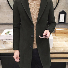 TANGNEST Autumn Winter Coat Men 2019 New Arrival Casual Fashion Long Trench Coat