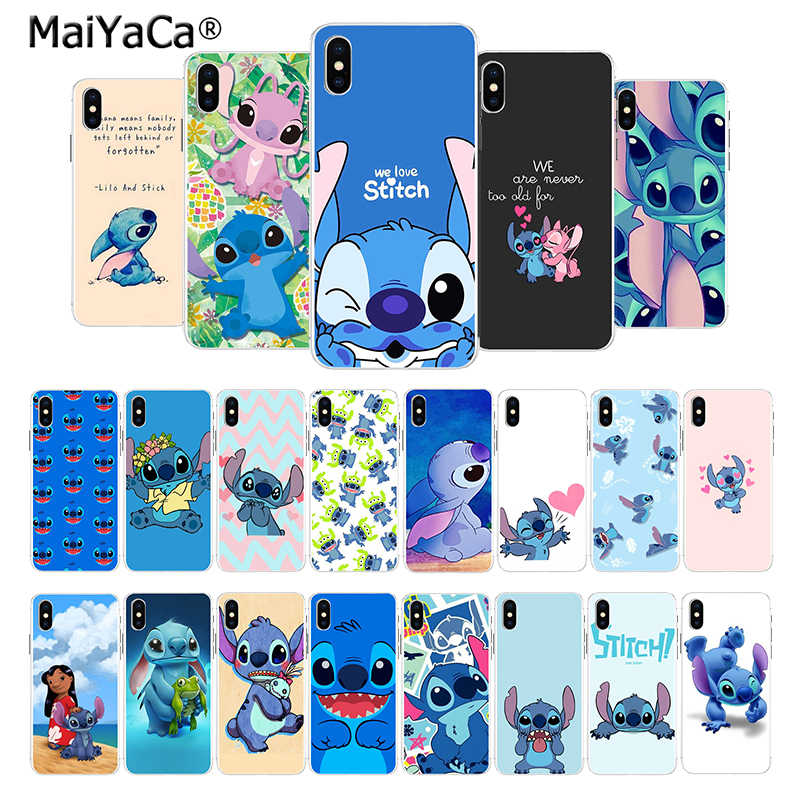 Maiyaca Cute Cartoon Lilo Stitch New Arrival Fashion On Sell Phone Case For Iphone 8 7 6 6s Plus X 10 55s Se Xr Xs Xs Max Cover