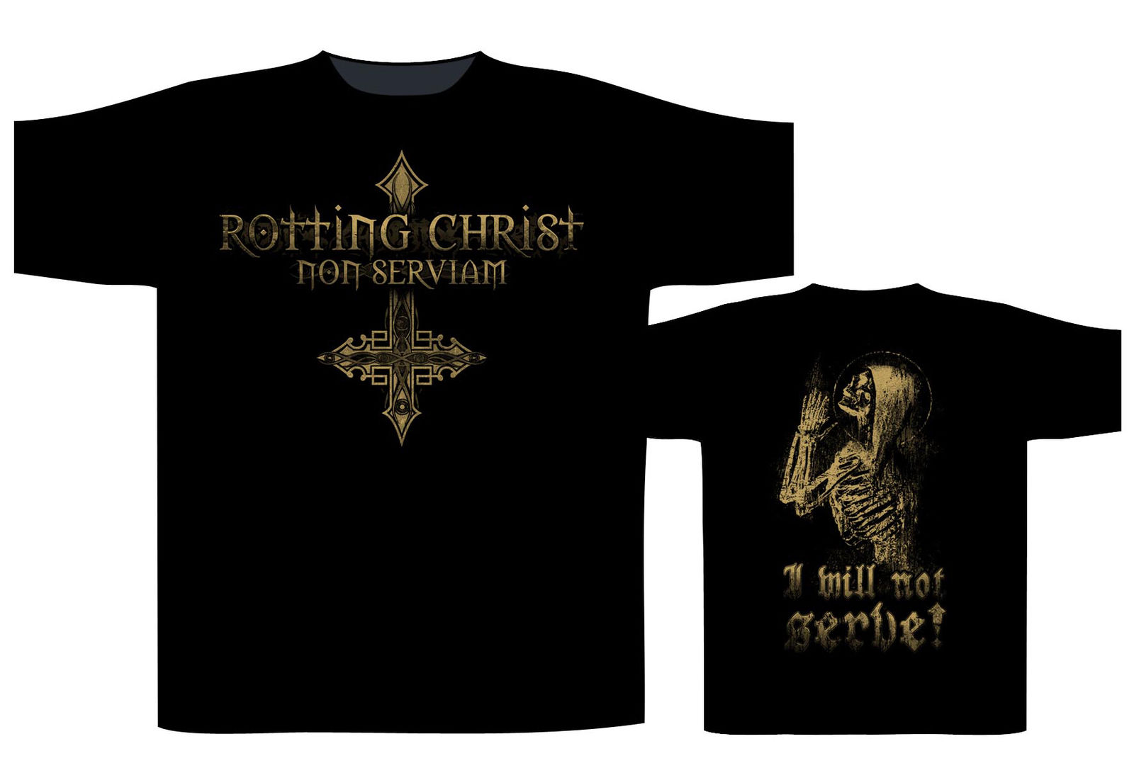 Rotting Christ Non Serviam T-Shirt - NEW & OFFICIAL Newest 2018 Fashion Stranger Things T Shirt Men