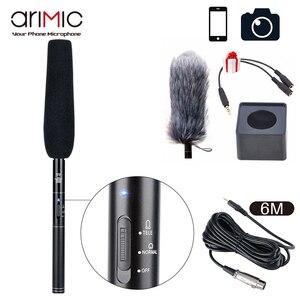 Image 2 - Ulanzi Arimic professionnel fusil de chasse entretien Microphone directionnel condensateur micro pour DSLR DV caméscopes caméra vidéo micro