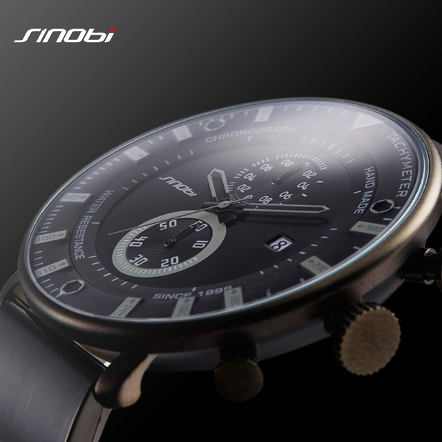 SINOBI Star Wars Ultra Thin Chronograph Mens Wrist Watches