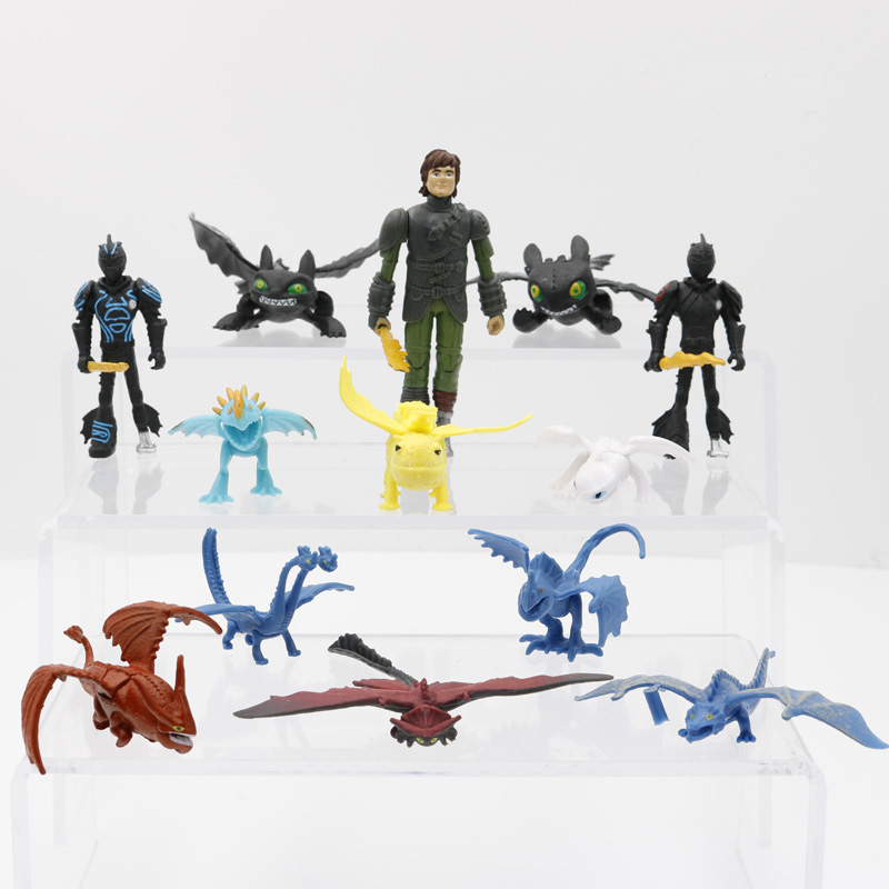 Set of 13 How to Train Your Dragon Toothless Anime Action Figure Model Doll Decoration Toys for Children Birthday GiftsSet of 13 How to Train Your Dragon Toothless Anime Action Figure Model Doll Decoration Toys for Children Birthday Gifts