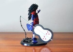 Image 4 - 2 шт./лот 18 см японское аниме Наруто Учиха Мадара Учиха Саске ПВХ Фигурки Модель игрушки