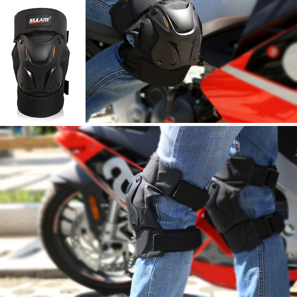 Homyl Motorcycle Elbow Knee Protector,Knee Shin Guard Pads Protectiver Armor for Motorcycle Cycling Racing Black