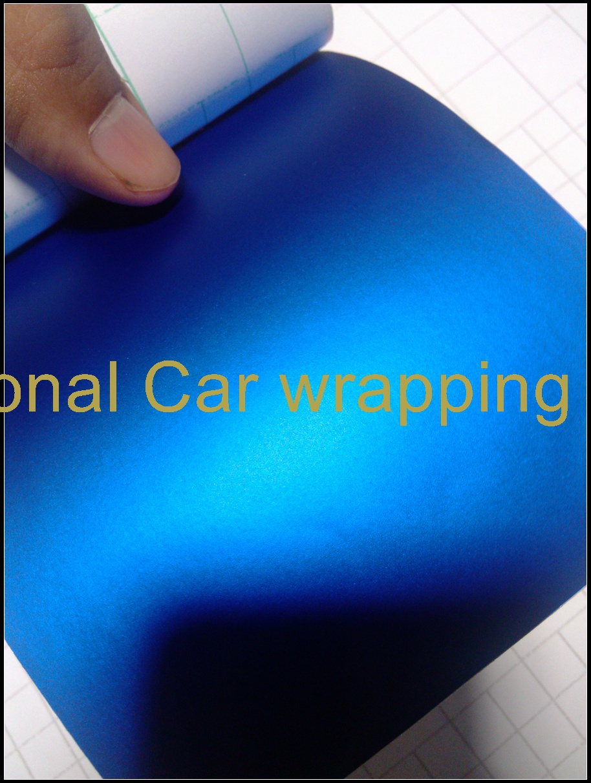 Garage wrapping deep blue matte metallic chrome vinyl wrap - Garage door vinyl wrap ...