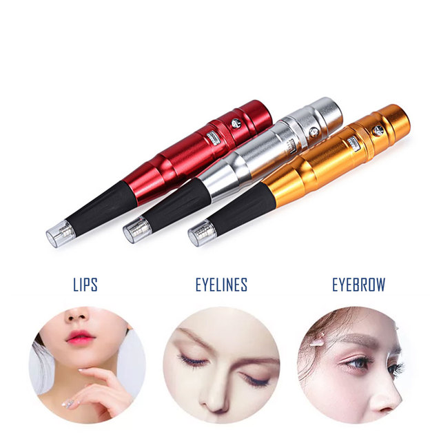 Permanent Makeup Tattoo Machine Pen Kit Professional Electric eyebrow tattoo Gun For Tattoos eyebrows Eyeliner Lip machine brand