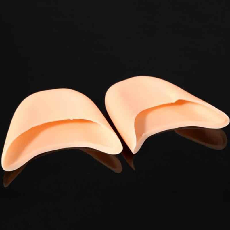 1 çift nefes çıplak Pro silikon jel bale Pointe ayakkabı ön ayak ayak dans pedleri koruyun
