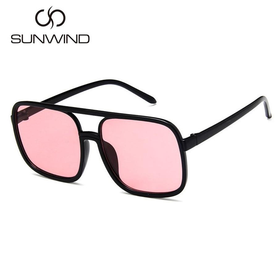 Mode Männer Frauen Sonnenbrille Square Frame Vintage Goggle Plain - Bekleidungszubehör - Foto 4